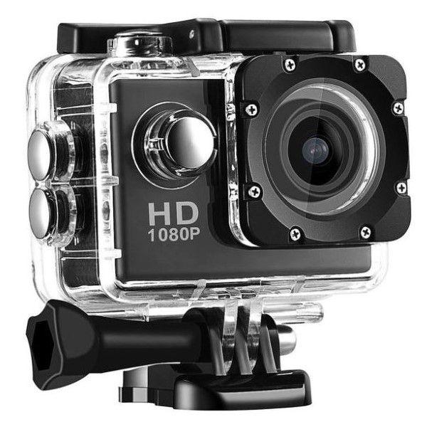 Mini Câmera de Ação e Aventura Digital Full-HD 1080p Estojo À Prova D`água Acessórios Carregador Específico (BTO)