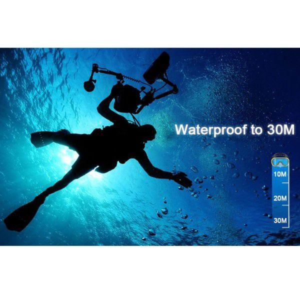 Mini Câmera de Ação e Aventura Digital Full-HD 1080p Estojo À Prova D`água e Acessórios (BTO)