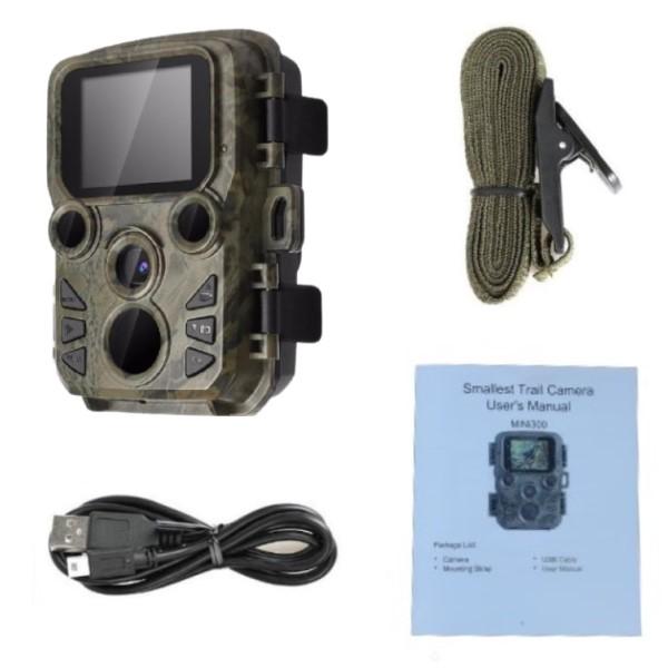 Mini Câmera de Trilha Visão Noturna Full HD 1080p 12MP Proteção IP66 Vida Selvagem Caça Propriedade Comércio Fábricas Galpões e Muito Mais