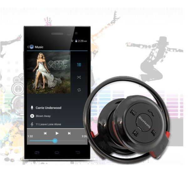 Mini Fone De Ouvido Bluetooth V2.1 + Edr Estéreo Slot Para Cartão Micro SD Até 32GB