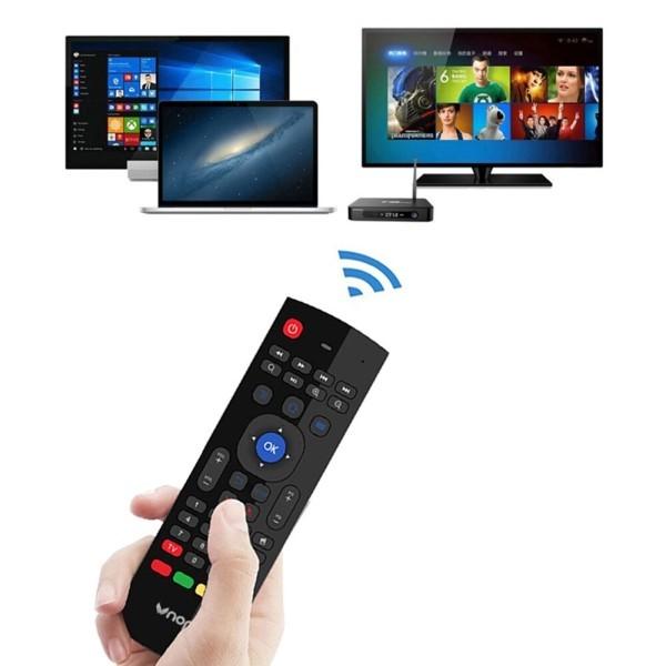Mini Teclado Controle Remoto Smart Multifuncional WIFI Suporta Windows Linux Android Mac OS e Outros Sistemas e Dispositivos Convencionais