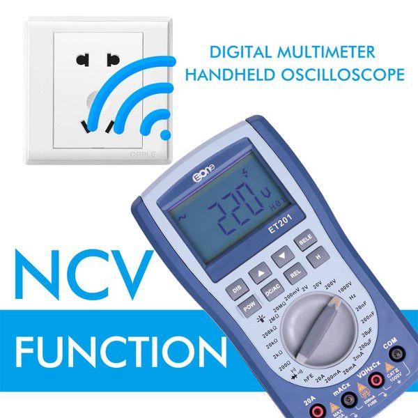 Osciloscópio e Multímetro Função 2 em 1 Profissional ET201 LCD Digital Sistema Integrado Multifuncional Captura Automática (BTO)