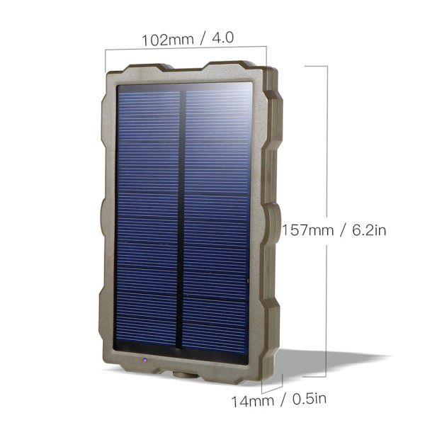 Painel Solar Câmera de Trilha Entrada DC 5v / Saída DC 6v / HC-800A / HC800M / HC-800G / H881 / XT-453 / H801 / H885 / H9 / H3 / H501 (BTO)