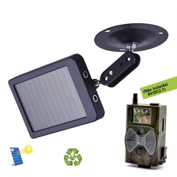 Painel Solar Câmera de Trilha Suntek Entrada DC 9-12V / Saída DC 9V / HC-300M / HC-350M / HC-500M / HC-550M / HC-500G / HC-550G (BTO)