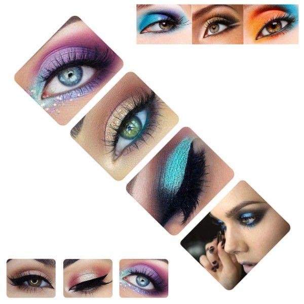 Paleta de Maquiagem Multifuncional 120 Cores Corretivo Sombras Sombra de olho Sobrancelha Blush Pessoal e Profissional À Prova D'água