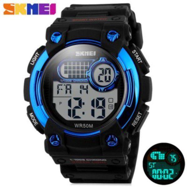 Relógio Skmei 1054 Led Esporte Digital 5atm Alarme Data Hora