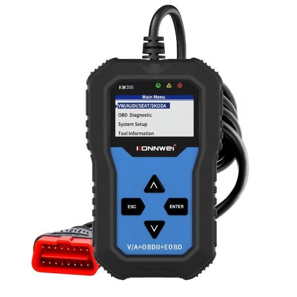 Scanner Automotivo Profissional OBD/OBD2 Universal 12v Função Completa Gasolina Diesel Flex Elétrico Híbrido de 1996 Aos Atuais Azul