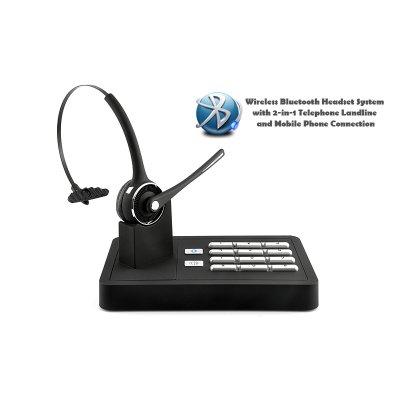 Telefone Fixo Bluetooth Handsfree Headset System 2-em-1