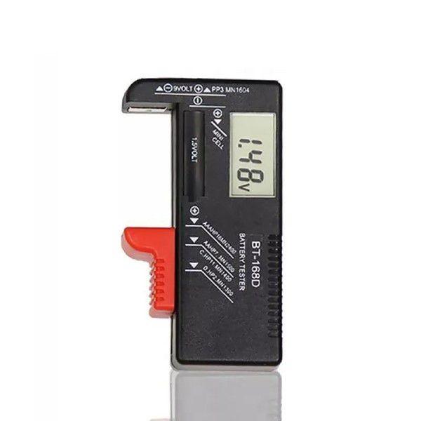Diagnóstico e Analisador de Pilhas e Baterias 9V / 1.5V / AA / AAA / C / D / Botão Universal Lcd Digital Análise Completa