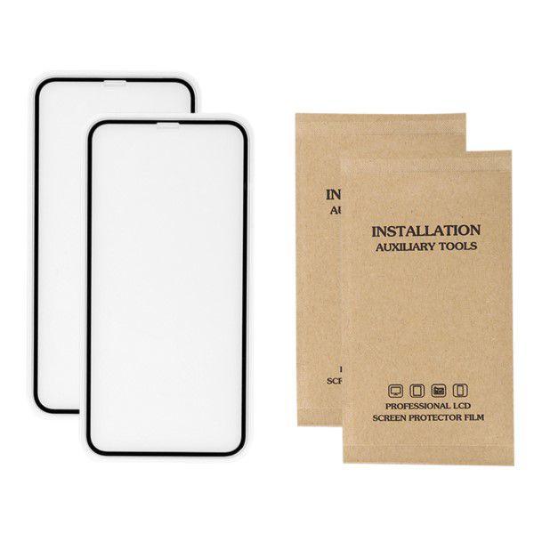 Vidro Temperado 2x Protetor de Tela 9h-2.5d Para Apple Iphone X 5.8 Polegadas