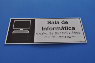 Placa de sinalização - SALA DE INFORMÁTICA