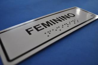 Placa de sinalização - SANITÁRIO FEMININO- modelo 2