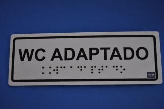 Placa de sinalização - WC ADAPTADO