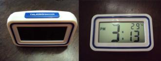 Relógio e termômetro de mesa digital FALANTE