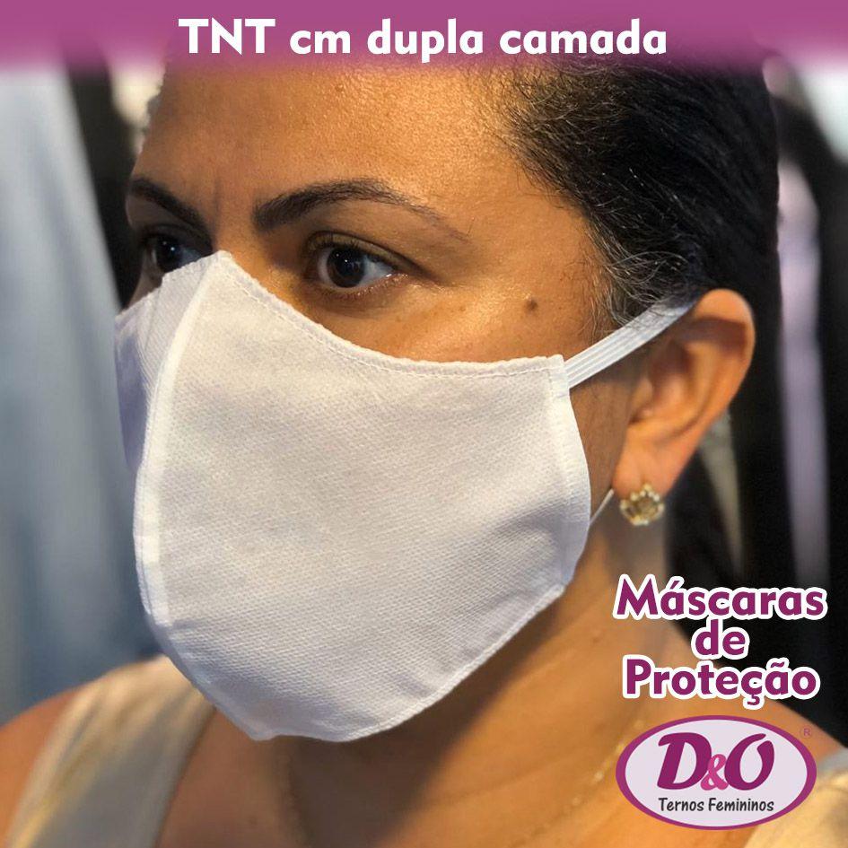 100 unids - Máscara descartável TNT c/ elástico (2 camadas de filtro)
