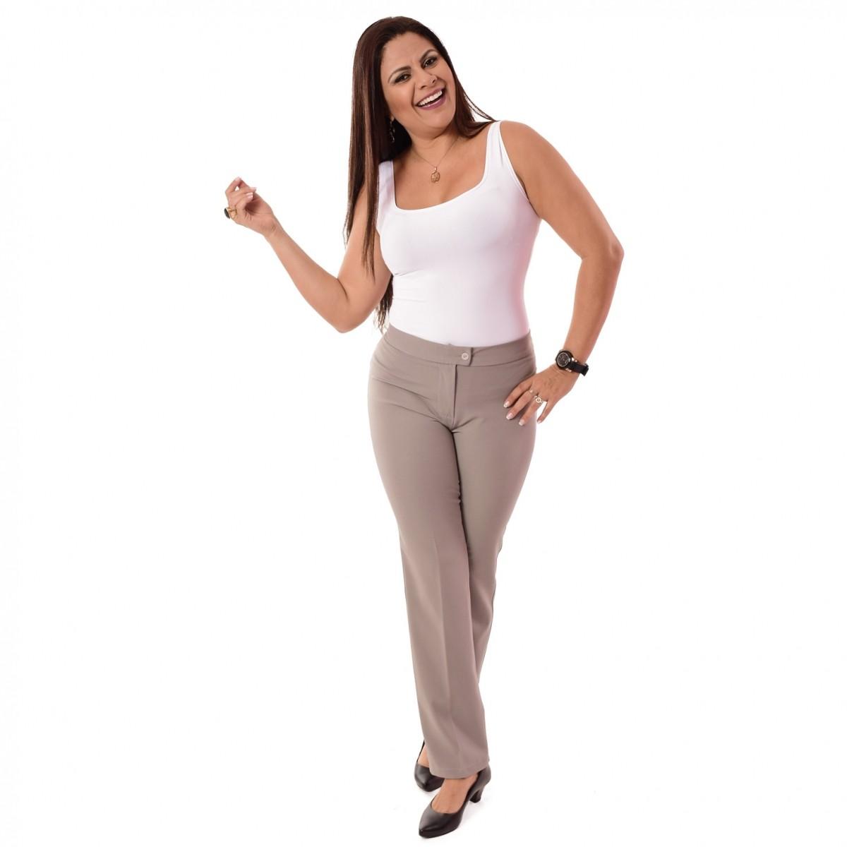Calça Social Feminina Longa - Cores Diversas