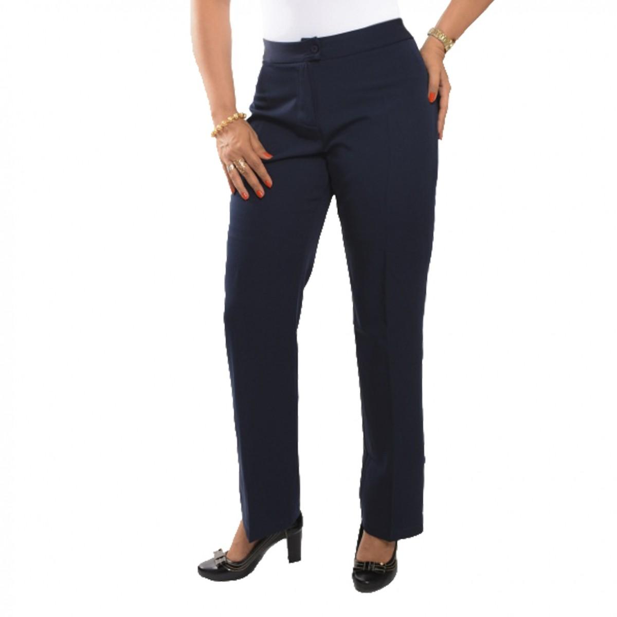 Calça Social Feminina Longa - Azul Marinho