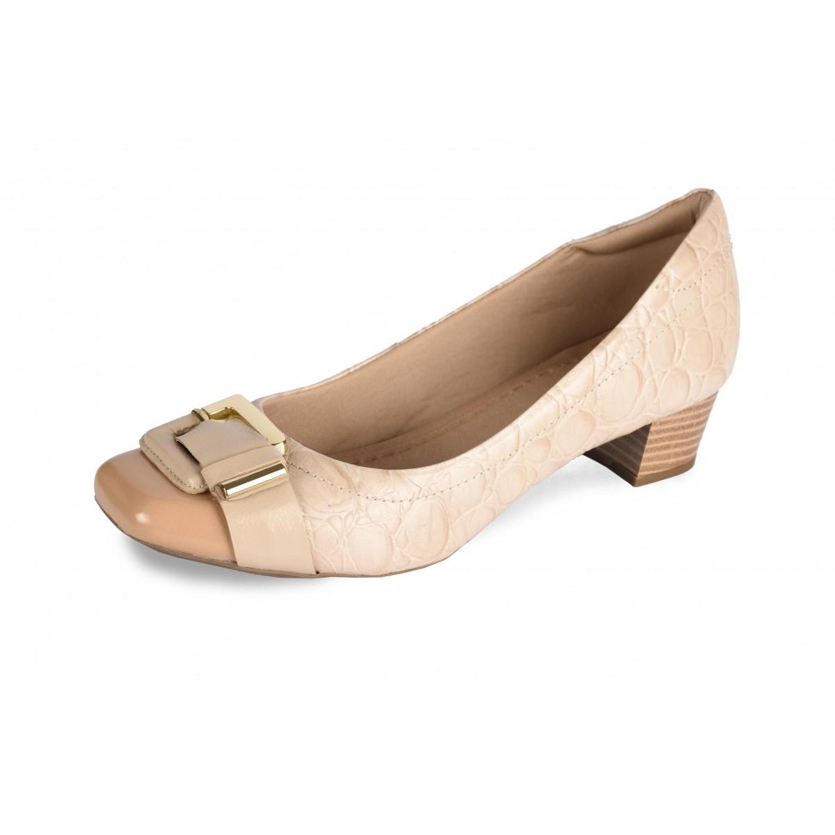 Sapato Neftali Comfort, marrocos e areia com fivela dourada
