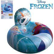 Boia Inflável Circular com Encosto Frozen