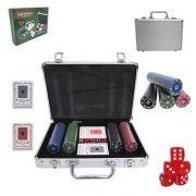 Jogo de Poker com Maleta 200 Fichas