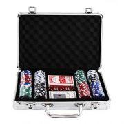Maleta de Poker com 200 Fichas Numeradas