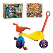 Triciclo Infantil Velotrol Tchuco Zoo com Haste para Empurrar