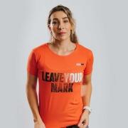 Camiseta Treino Baby Look Feminina Leave Your Mark Laranja Ultrawod