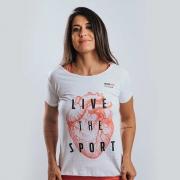 Camiseta Treino Baby Look Feminina Live The Sport Talco Ultrawod
