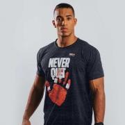 Camiseta Treino Masculina Never Quit Cinza Escuro Ultrawod