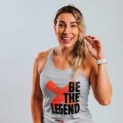 Regata Treino Feminina Be The Legend Cinza Claro Ultrawod