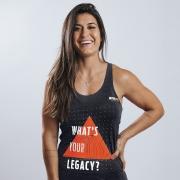 Regata Treino Feminina Whats Your Legacy Cinza Escuro Ultrawod