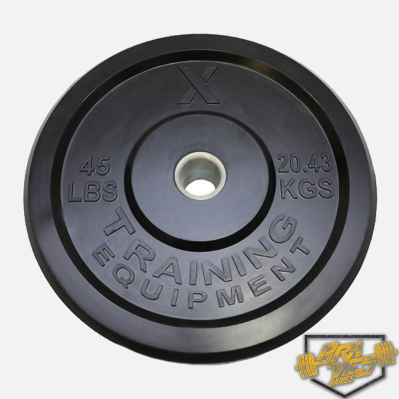 Anilha para CrossFit 20kg - 45LB X-Training Equipment Braves Games  - ULTRAWOD