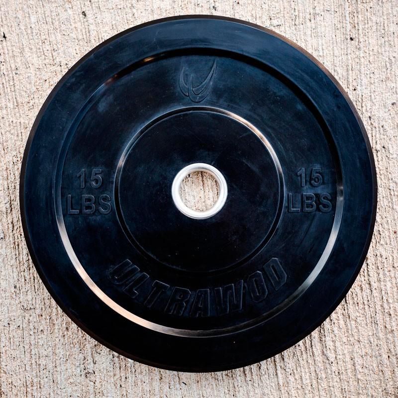 Anilha de Borracha Bumper Plate 15LB para CrossFit UltraWod