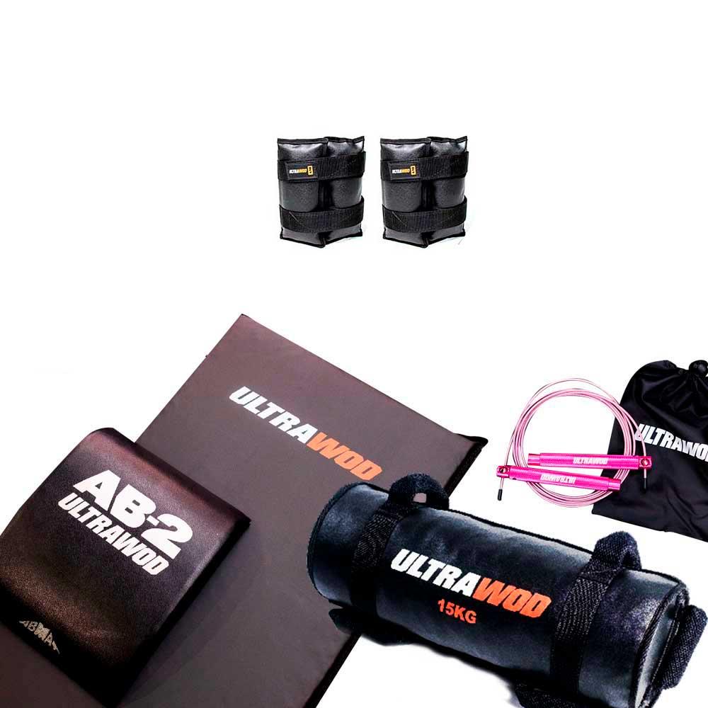 Kit para Treino em Casa Cross Training Funcional UltraWod - 5 itens