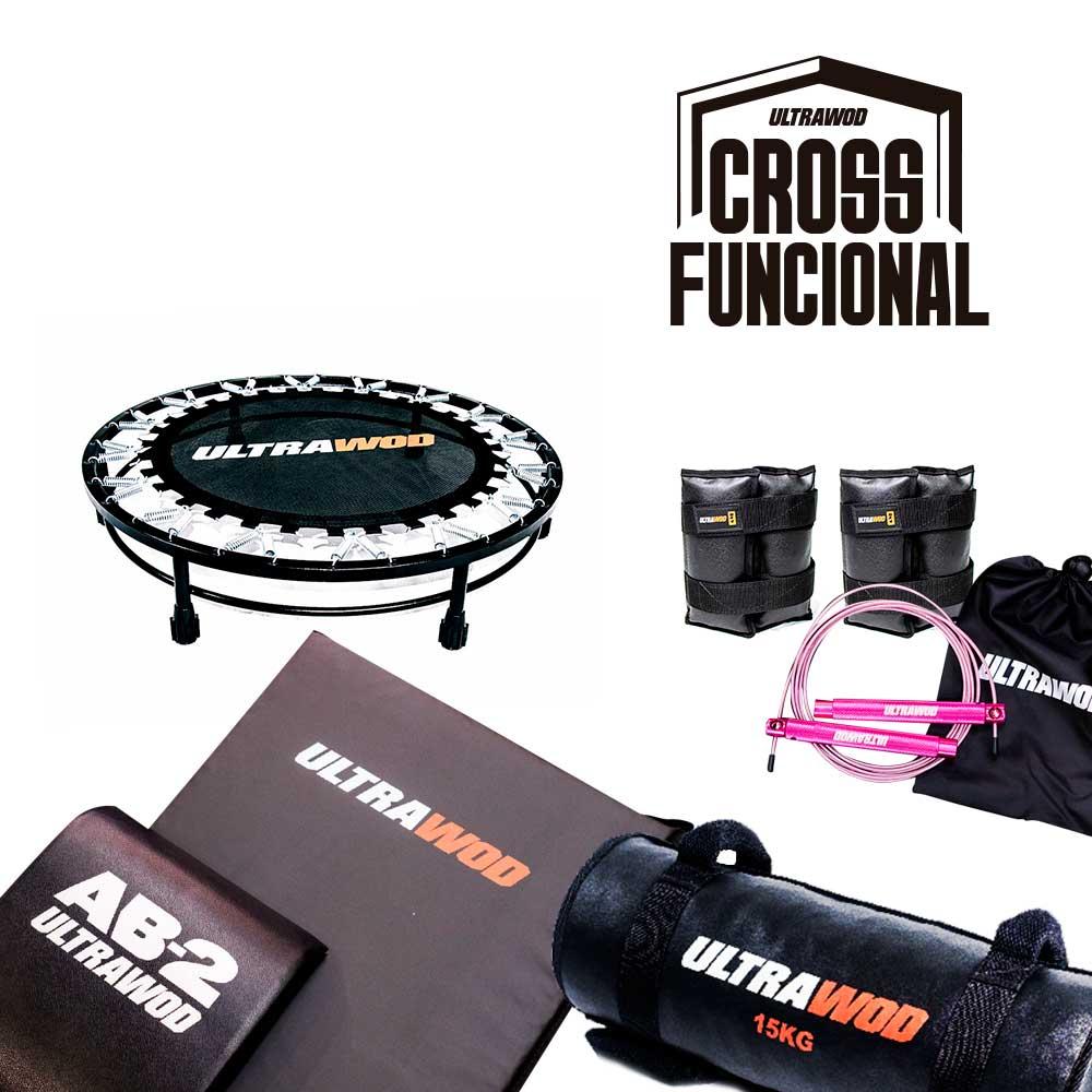 Kit para Treino em Casa Cross Training Funcional UltraWod - 6 itens