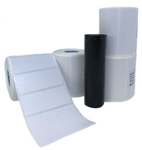 Kit 4 rolos de Etiqueta 70x30 + 1 ribbon preto 74 metros