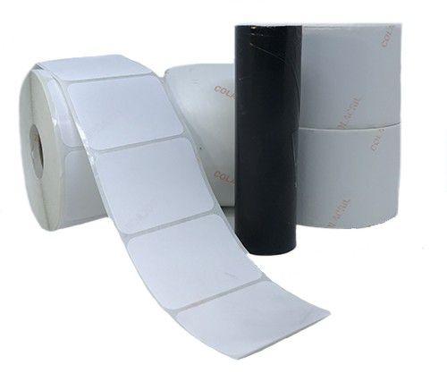 Kit 4 rolos de Etiqueta 51x40 + 1 ribbon preto 74 metros