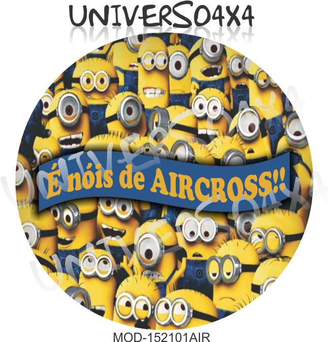 Capa Estepe Aircross Minions M-152101