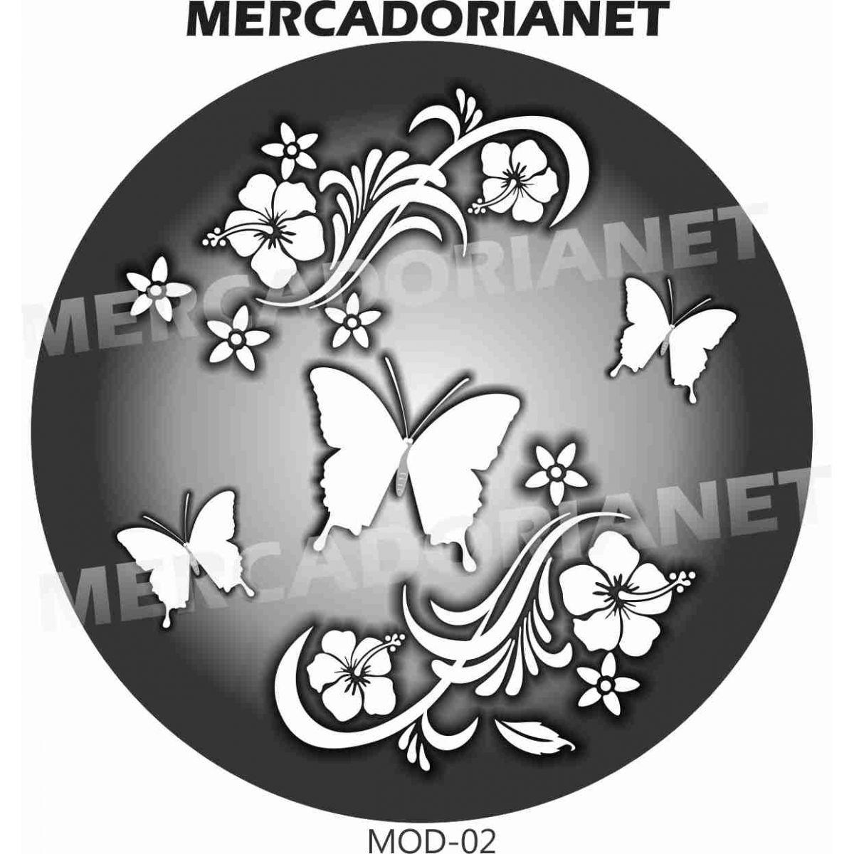 Capa Estepe Borboleta Flores M-02