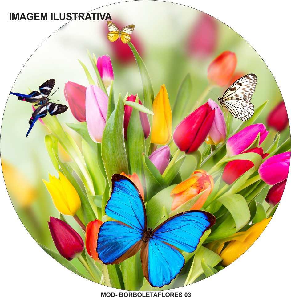 Capa Estepe Borboleta Flores M-03