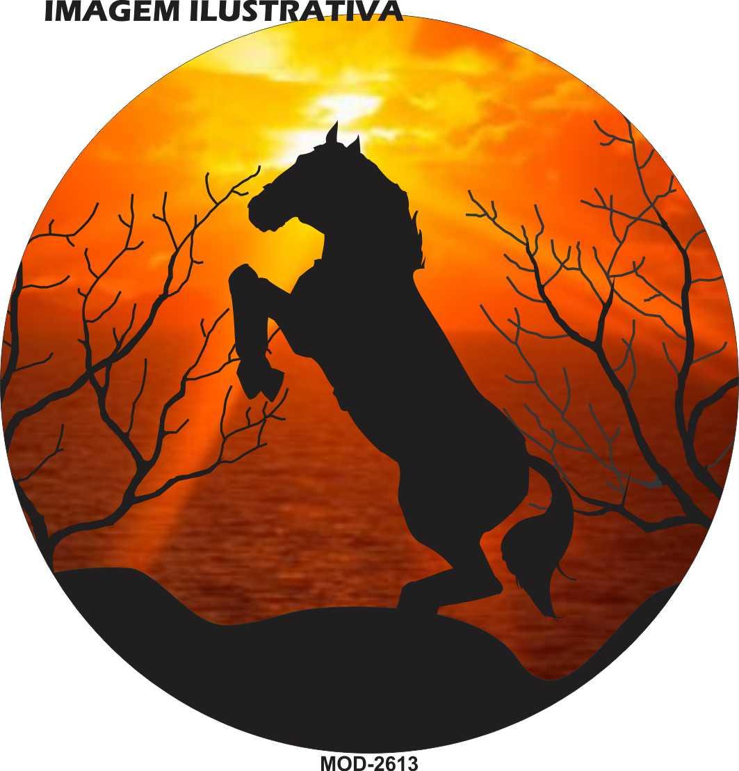 Capa Estepe Cavalo Por do Sol M-2613