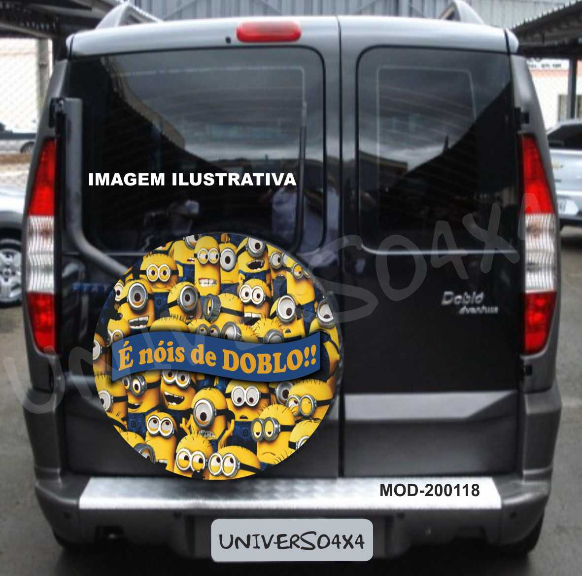 Capa Estepe Doblo Minions M- 200118
