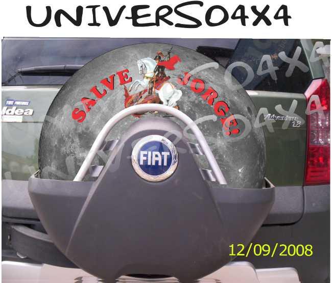 Capa Estepe Idea / Doblo São Jorge M-LUA CINZA