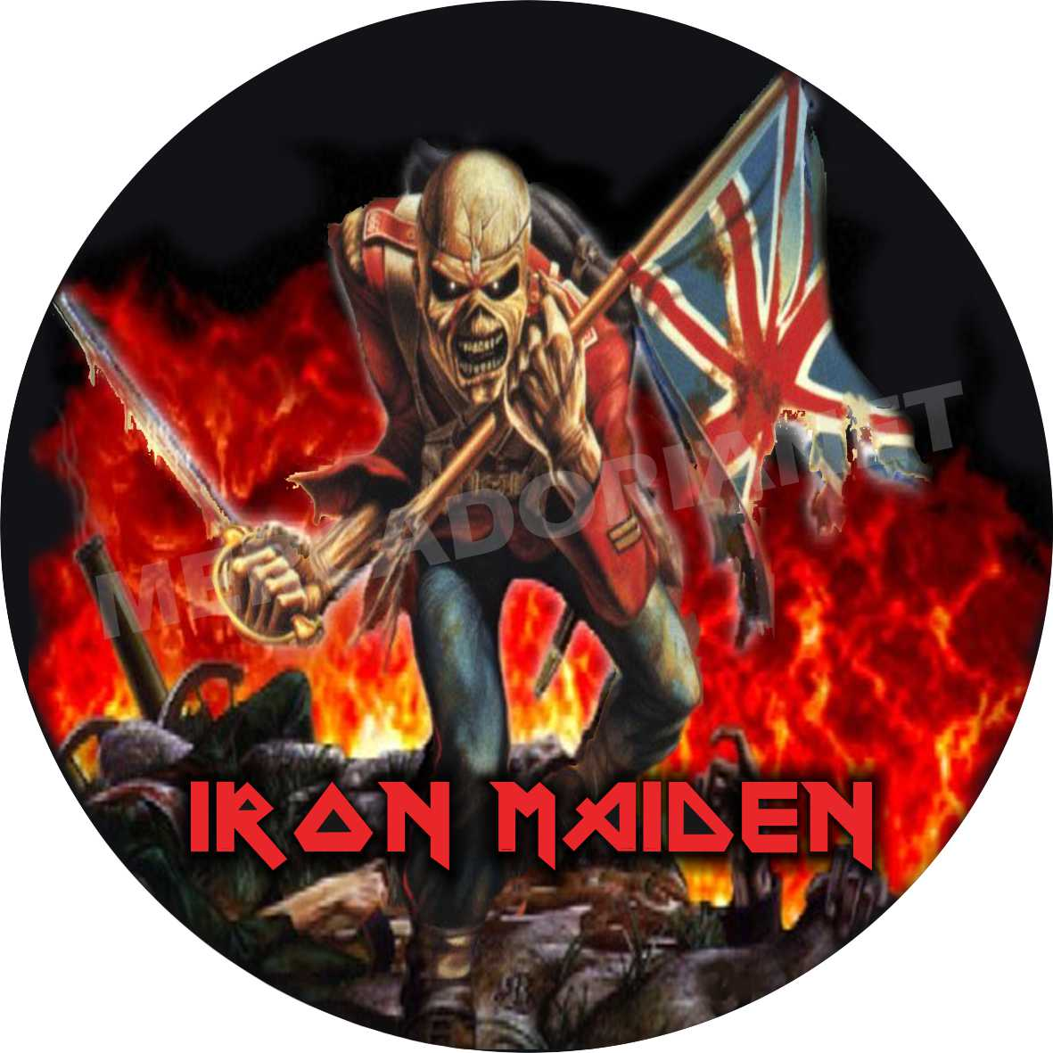 Capa Estepe Personalizada Iron Maiden M-04