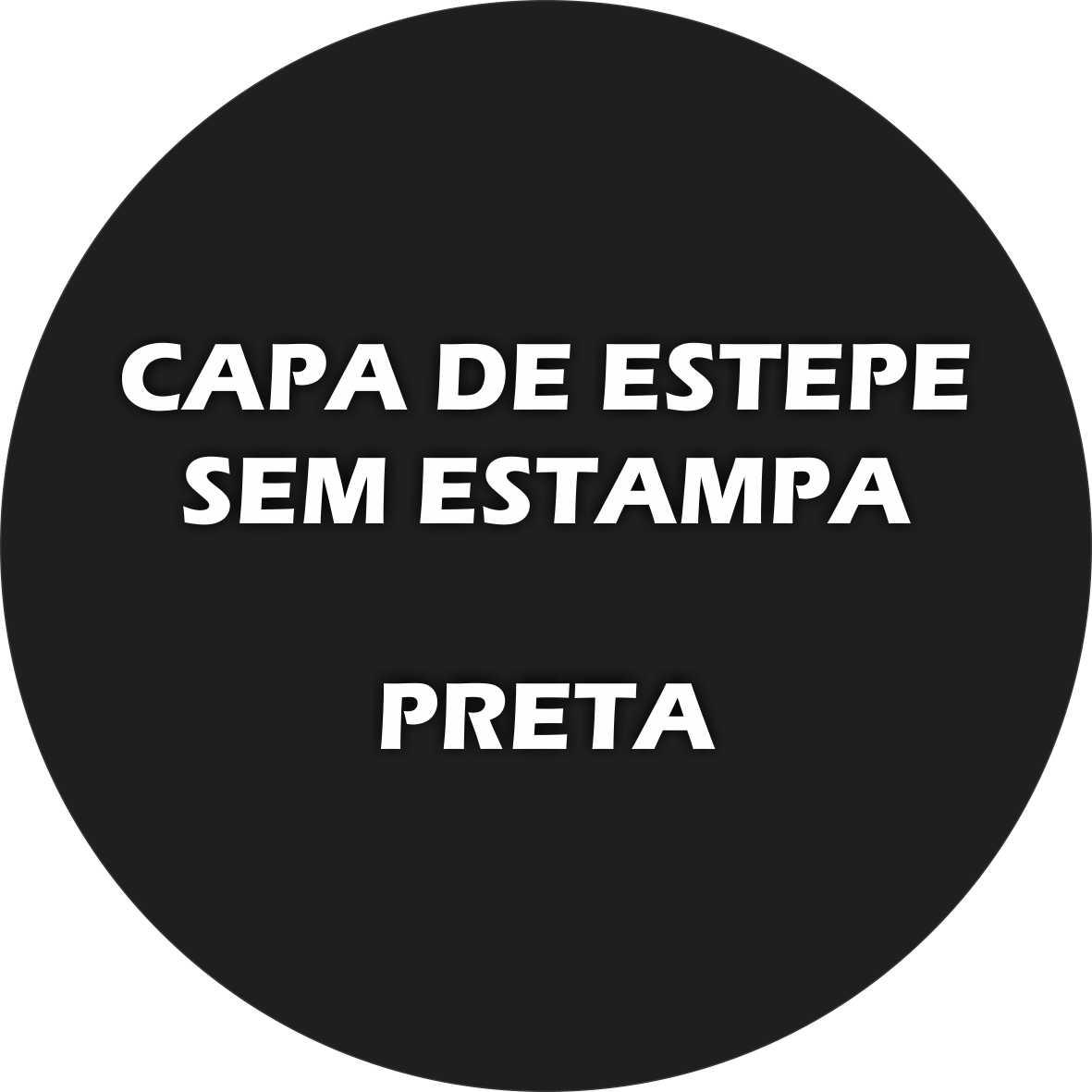 Capa Estepe SEM ESTAMPA - PRETA