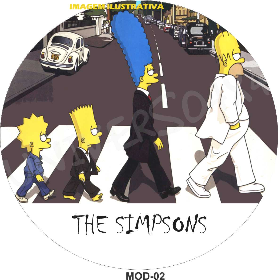 Capa Estepe Simpsons Beatles Abbey Road