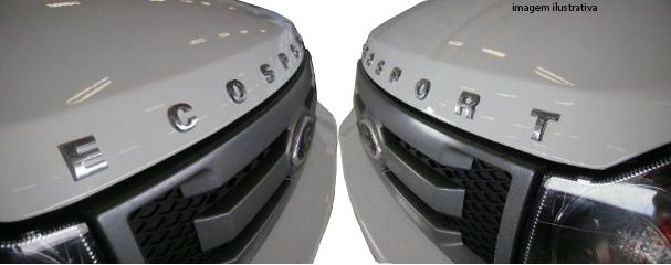 Emblema Frontal, Letreiro Ecosport, Capô