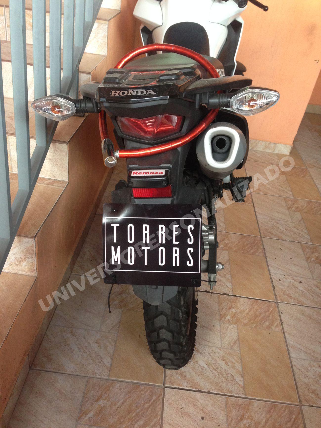 KIT 04 + 01 (BRINDE) PLACAS COBRE TAMPA PLACA MOTO M-230419