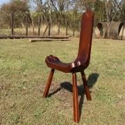 Cadeira de Madeira de 03 Pés - modelo Bacalhau - Grande - Jacarandá da Bahia