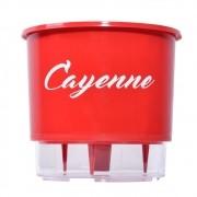 Vaso Autoirrigável Vermelho para Horta - Pimenta Cayenne